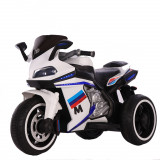 Motocicleta electrica cu lumini LED Legend White, Moni