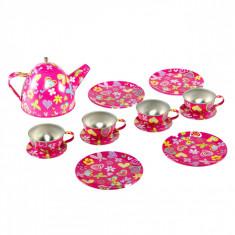 Set ceai pentru copii, metalic, 14 buc., multicolor