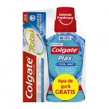 Pachet Pasta de dinti Colgate Total Advanced Visible Proof 75 ml + Apa de gura Colgate Plax 250 ml gratis