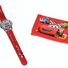 Set ceas pentru copii cu Cars + portofel cadou - COCO6614