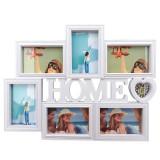 Rama foto colaj 6 poze - Home, 50x38 cm, fotografii incluse