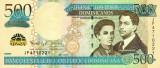 REPUBLICA DOMINICANA █ bancnota █ 500 Pesos Dominicanos █ 2011 █ P-186a █ UNC
