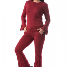 B877-81 Compleu tricotat cu pantaloni si bluza