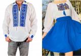 Cumpara ieftin Set Cuplu Traditional 129 Camasa Traditionala si Rochie cu motive traditionale
