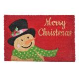 Covoras intrare Merry Christmas, 60 x 40 cm, imprimeu Om de zapada
