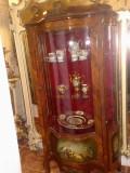 vitrina/mobila antica/vintage, Ludovic/baroc, lemn ,inatrise,pictata manual