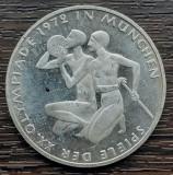 (A854) MONEDA DIN ARGINT GERMANIA - 10 MARK 1972, LIT. G, JOCURILE OLIMPICE