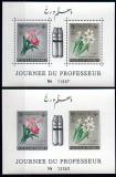 AFGANISTAN 1961, Flora, colita dant.+nedant, MNH, Nestampilat