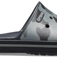 Papuci Adulti Unisex Plajă Crocs Crocband III Seasonal Graphic Slide, 39.5, 41.5 - 43.5, 45.5, Gri