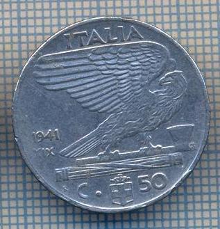 AX 1360 MONEDA -ITALIA- 50 CENTESIMI -ANUL 1941 XIX MAGNETIC-STAREA CARE SE VEDE