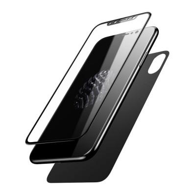 Pachet sticle securizate protectie fata spate pentru iPhone X foto