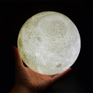 Lampa LED forma de luna plina 8cm Diametru 2 culori alb si rece Reglabila