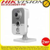 Cumpara ieftin Camera cube Turbo HD Hikvision DS-2CE38D8T-PIR 2MP Starlight, 2.8mm, IR Exir 20m, microfon si PIR, WDR 120dB