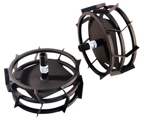Roti metalice cu manicot motocultor (set)