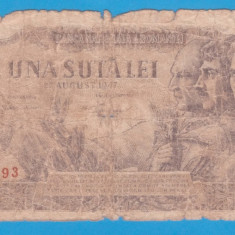 (22) BANCNOTA ROMANIA - 100 LEI 1947 (27 AUGUST 1947)