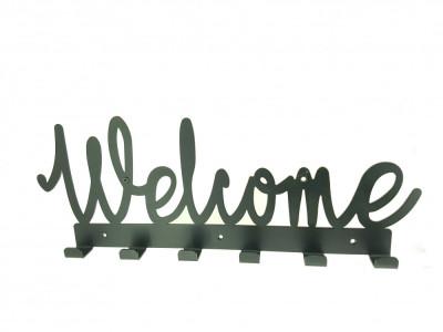 Cuier metalic Welcome 6 agatatoare foto