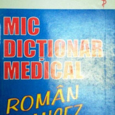 Mic dictionar medical roman-francez