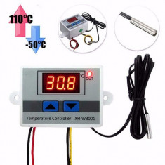 TERMOSTAT electronic DIGITAL controller de Temperatura AC 220V 10A sonda IEFTIN