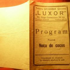 Program Cinema Luxor -Gradina Icoanei - Film Nuca de Cocos