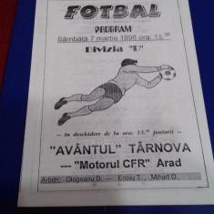 program     Avantul  Tarnova  -  Motorul CFR Arad
