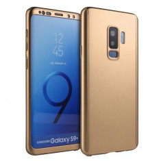 Husa 360 Samsung Galaxy S9 - Auriu (fata + spate + folie din silicon)