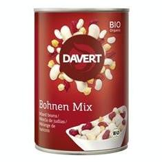 Mix din Boabe de Fasole si Naut Bio Conserva 400gr Davert Cod: 4019339487150