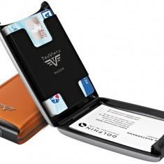 Portofel din aluminiu pentru carduri Razor de la Tru Virtu - Orange Blossom