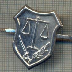 Y 1705 INSIGNA - MILITARA -SEMN DE ARMA -JUSTITIE MILITARA  -PENTRU COLECTIONARI