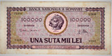 Bancnota 100.000 lei ( 100000 ) 25 ianuarie 1947 portret Decebal+Traian (2)
