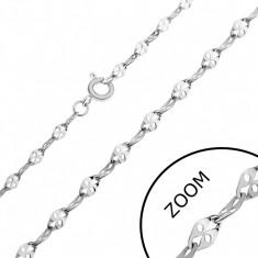 Lanț din oțel - zale plate cu gaură