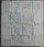 Traseul liniilor de tramvai si autobuze// harta Bucuresti 1936