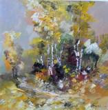 Tablou ulei (30/30 )-TOAMNA, Flori, Impresionism