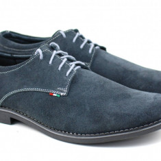 Pantofi barbati casual din piele naturala intoarsa - Made in Romania VELGRI