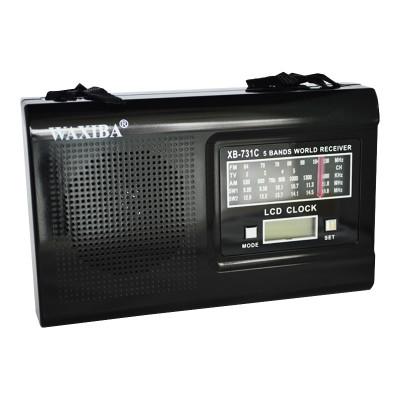 Radio portabil cu ceas Waxiba XB-731C, ceas LCD, 5 benzi foto