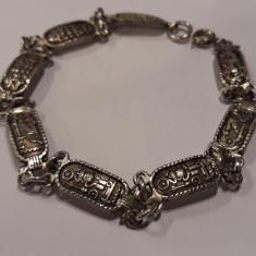 BRATARA argint EGIPT multiple simboluri EGIPTENE splendida VECHE de efect RARA