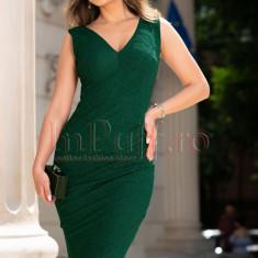 Rochie de seara verde cu sclipici petrecuta, S