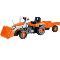 Tractor cu remorca si cupa Dolu