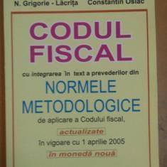 N. Grigorie-Lăcriță, Codul Fiscal - Normele Metodologice 2005