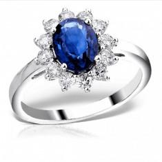 Inel Logodna Diamante si Safir 1.20CT - Teilor