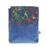 Rucsac albastru cu pete decorative - Rucsac albastru cu pete decorative, Meli Melo