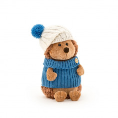 Prickle, ariciul cu caciula alb-albastra si pulover, din plus, 15cm, Orange Toys