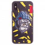 Husa Hard iPhone XS Gorilla Saru Skinarma Galbena