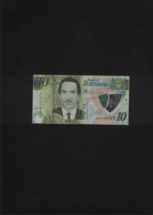 Botswana 10 Pula 2018 seria0908328 circulata din mana in mana
