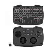 Cumpara ieftin Mini tastatura wireless 3 in 1, touchpad, gamepad cu vibratii, turbo pentru PC, PS3, Android, TV Box, Smart TV