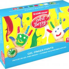Set Acuarele ArtBerry Finger Paints cu Aloe Vera 6x100ml