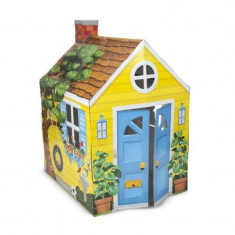 Casuta din carton Country Cottage Melissa and Doug,137 x 99 x 85 cm, Melissa & Doug