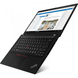 Laptop Lenovo ThinkPad T490s 14 inch FHD Intel Core i7-8565U 8GB DDR4 512GB SSD FPR Windows 10 Pro Black