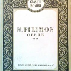 Opere, vol. 2 (Filimon) - Editie Princeps