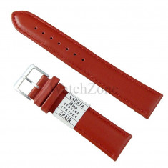 Curea ceas piele naturala rosie 10mm 12mm 14mm 16mm 18mm 20mm 22mm 24mm 26mm 28mm 30mm NAGATA