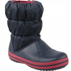 Bocanci de zapada Crocs Winter Puff Boot Kids 14613-485 pentru Copii, Albastru